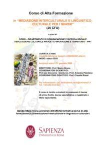 Come si diventa mediatori culturali? Formazione Sapienza, ancora pochi giorni per iscriversi @ Dipartimento CoRiS - Sapienza Università di Roma